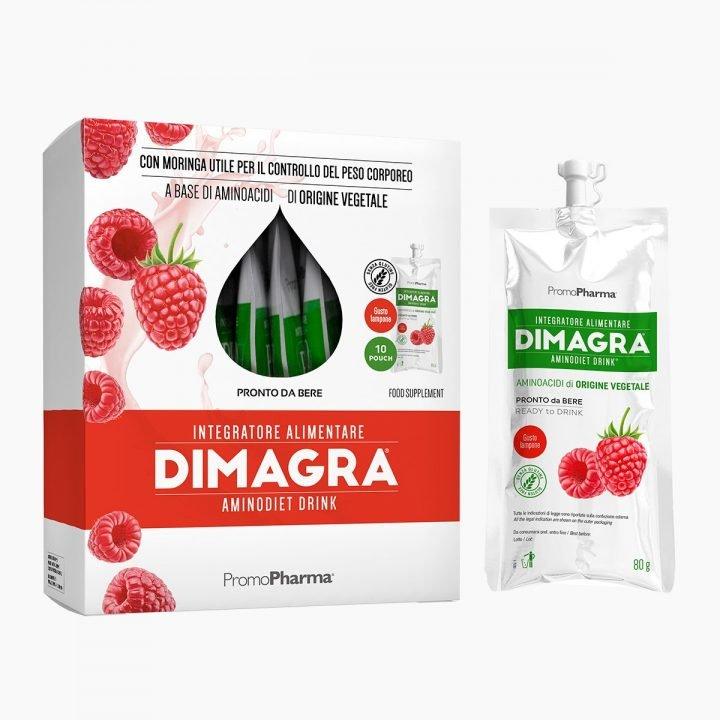 Immagine Dimagra Aminodiet Drink Lampone XanaStore