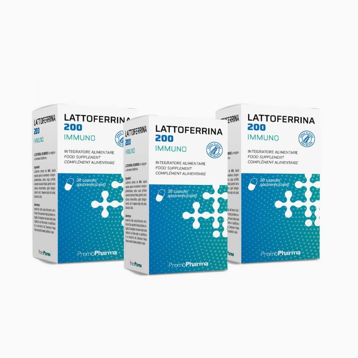 Immagine Kit 3 scatole Lattoferrina 200 capsule PromoPharma