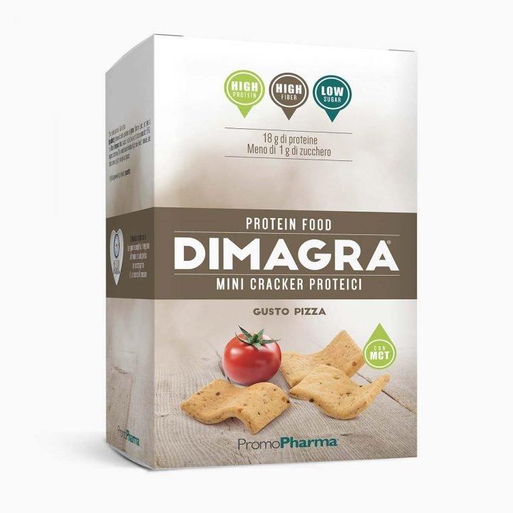Immagine Dimagra Mini Cracker Proteici Gusto Pizza XanaStore